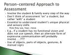 person centered approach to assessment
