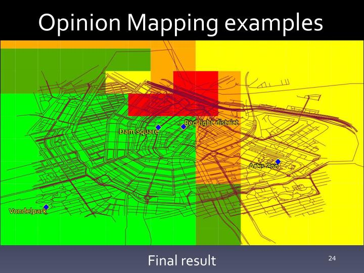 Opinion Mapping examples