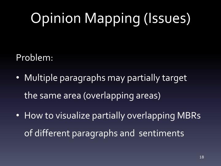 Opinion Mapping (Issues)