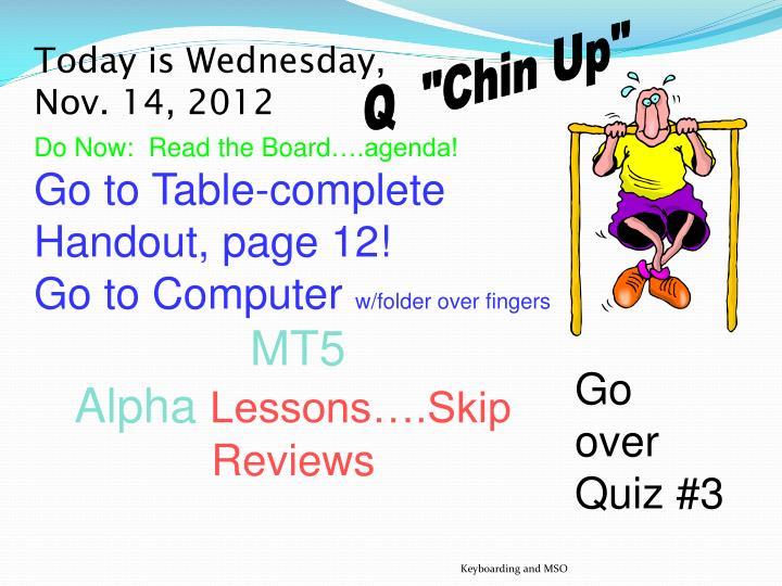 """Q  """"Chin Up"""""""