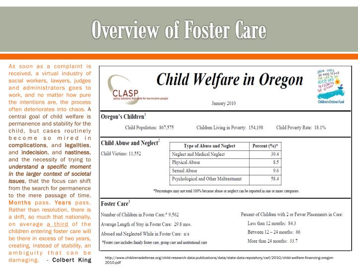 Overview of Foster Care