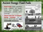 ancient energy fossil fuels