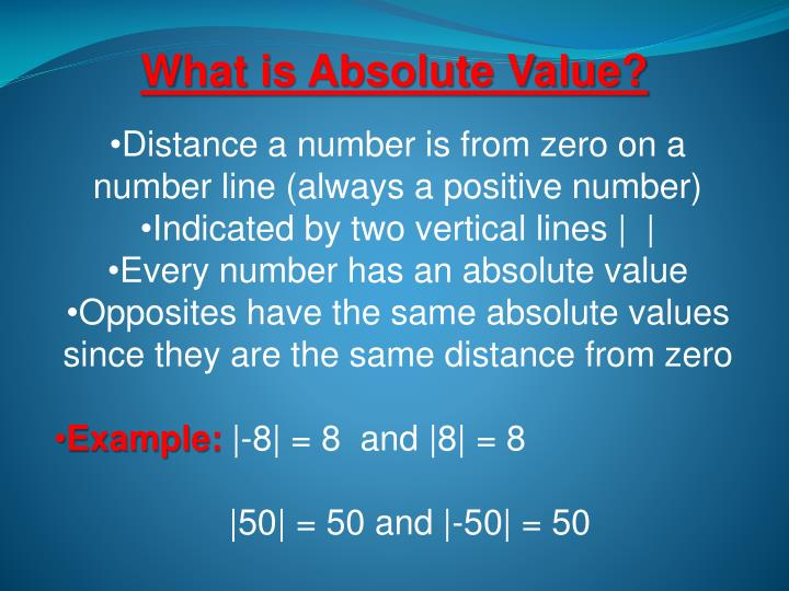 What is Absolute Value?