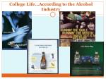 college life according to the alcohol industry