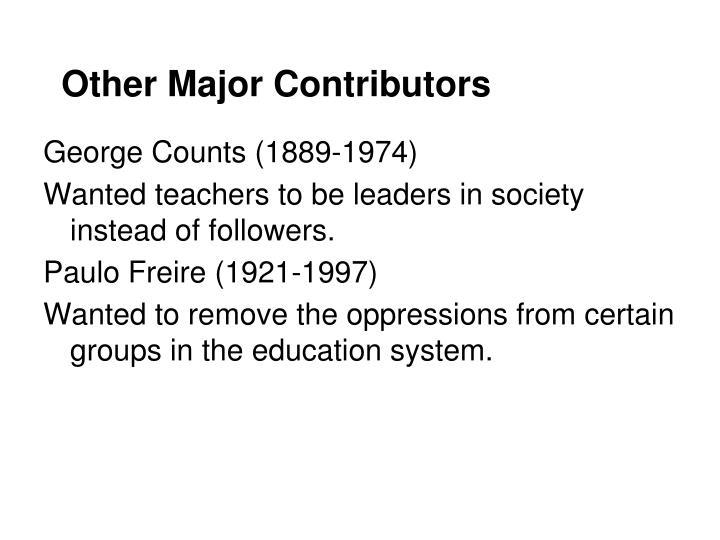 Other Major Contributors