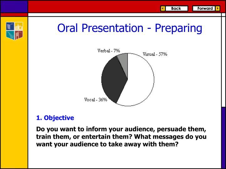 Oral Presentation - Preparing