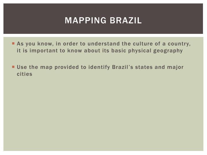 Mapping brazil