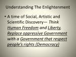 understanding the enlightenment