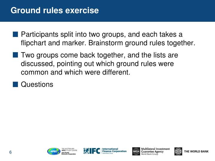 Ground rules exercise