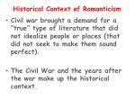 historical context of romanticism