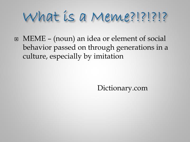 What is a Meme?!?!?!?
