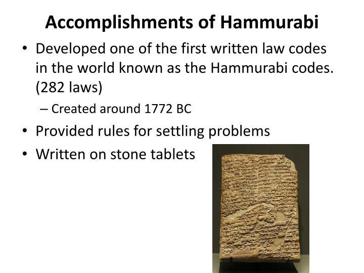 hammurabis organizing the worlds first code of laws