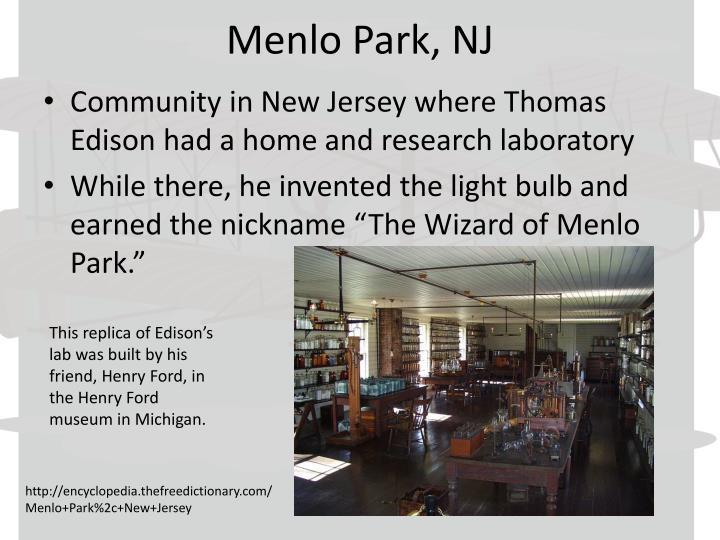 Menlo Park, NJ