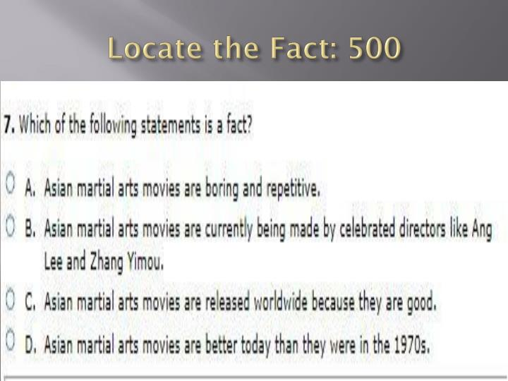 Locate the Fact: 500