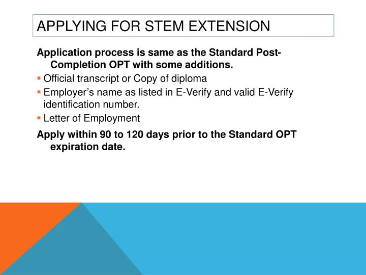 Applying for STEM Extension