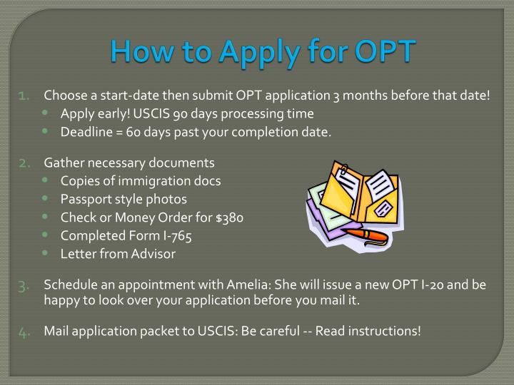 How to Apply for OPT