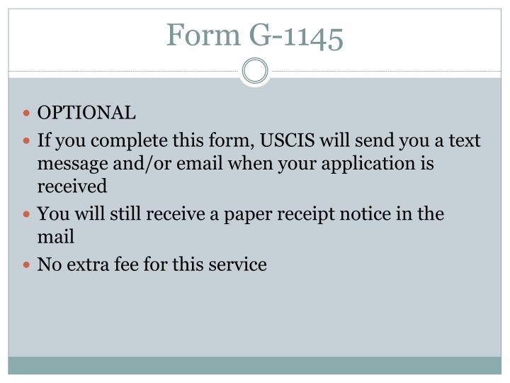 Form G-1145
