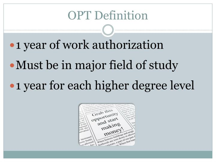 OPT Definition