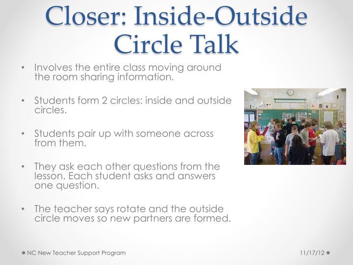 Closer: Inside-Outside Circle Talk