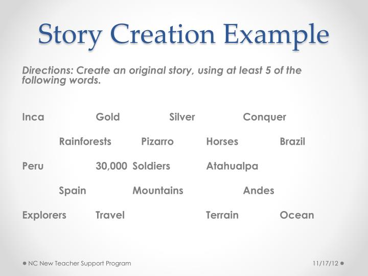 Story Creation Example