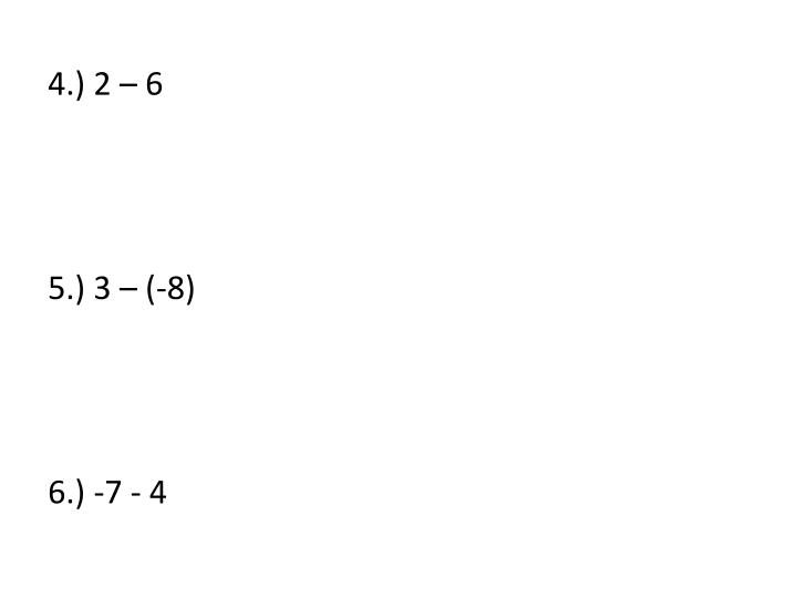 4.) 2 – 6