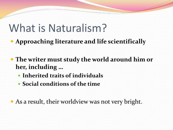 What is Naturalism?