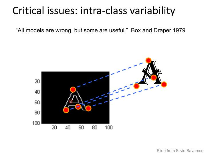 Critical issues: intra-class variability