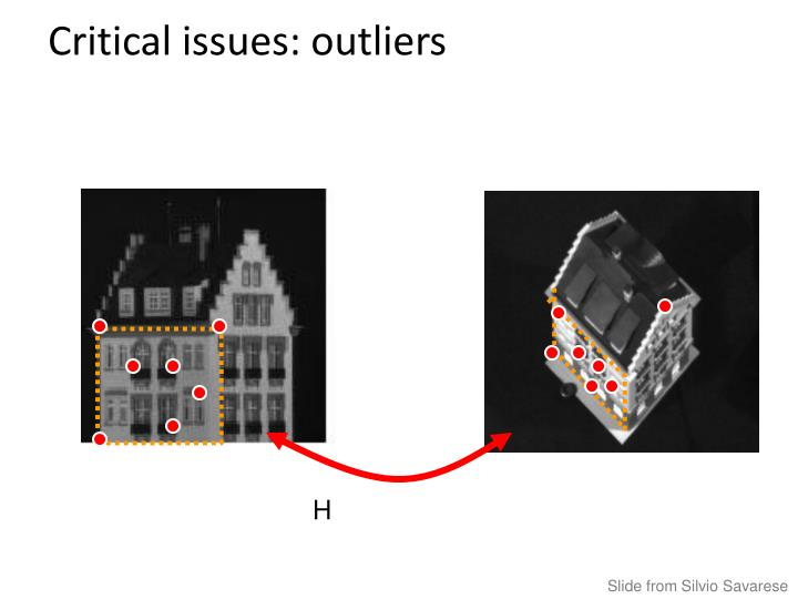 Critical issues: outliers