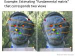 example estimating fundamental matrix that corresponds two views
