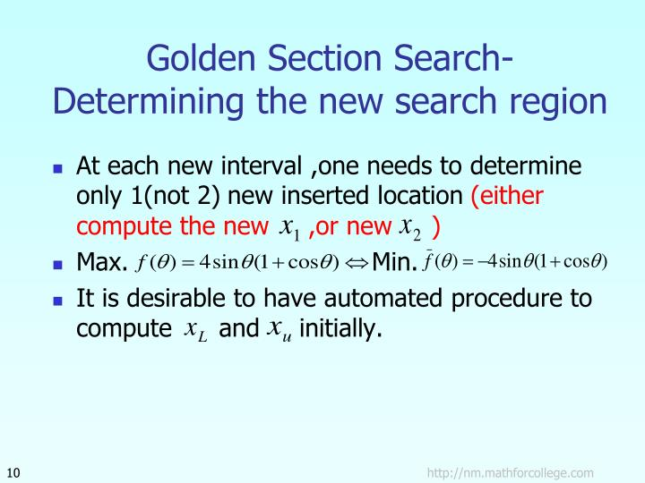 Golden Section Search-