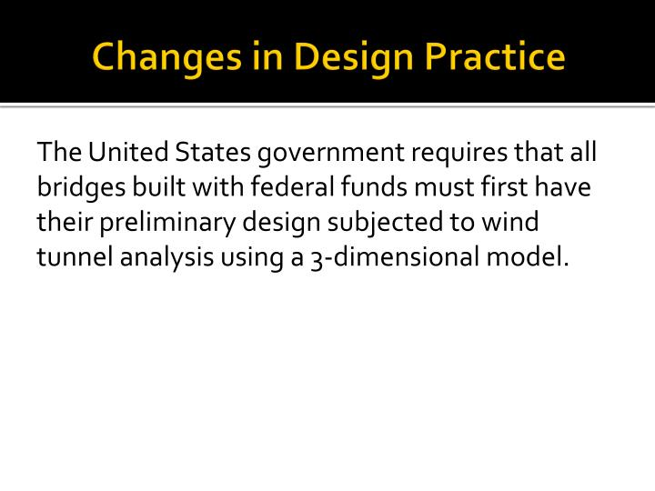 Changes in Design Practice