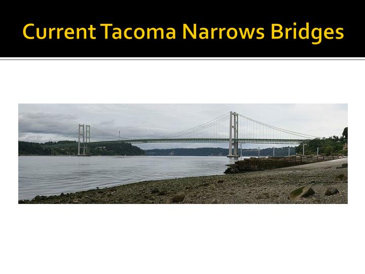 Current Tacoma Narrows Bridges