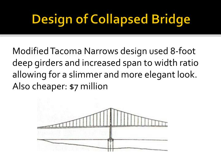 Design of collapsed bridge
