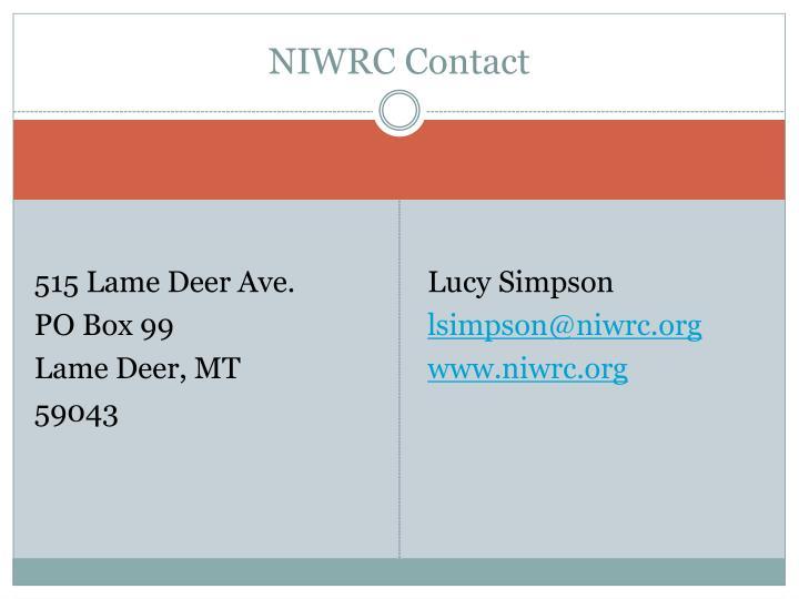 NIWRC Contact