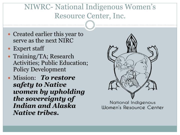 NIWRC- National Indigenous Women's