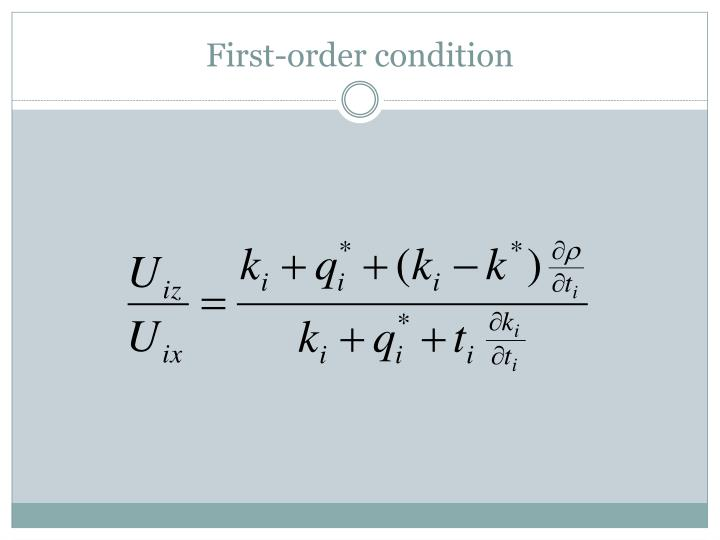 First-order condition