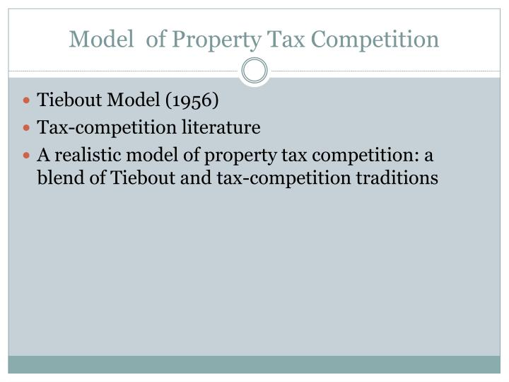 Model of property tax competition