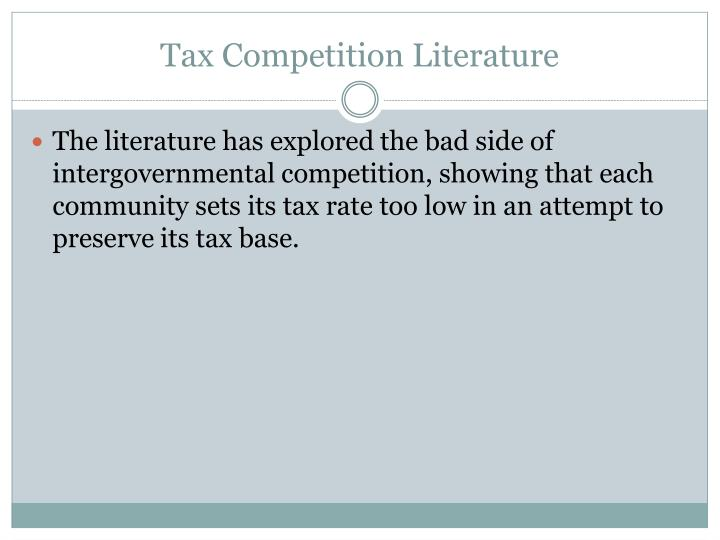Tax Competition Literature