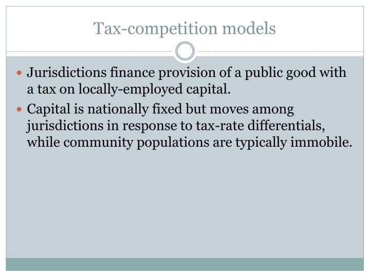 Tax-competition models