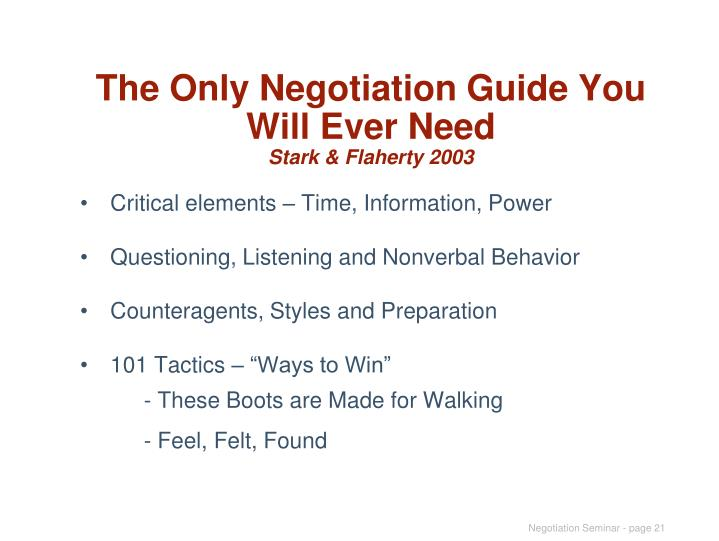 The Only Negotiation Guide You Will Ever Need
