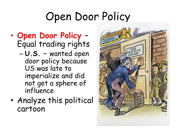america s open door policy with china How has the open door policy of 1978 affected china's women the policy of reform and opening in 1978 affected china's women in many ways the main affections.