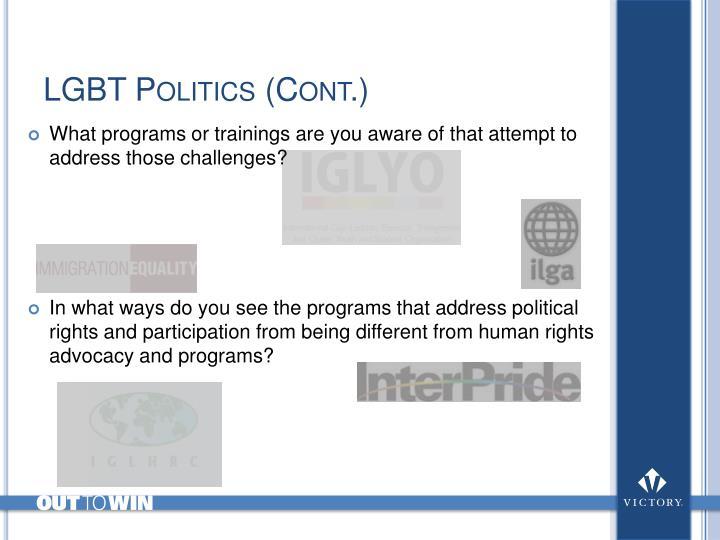 LGBT Politics (Cont.)