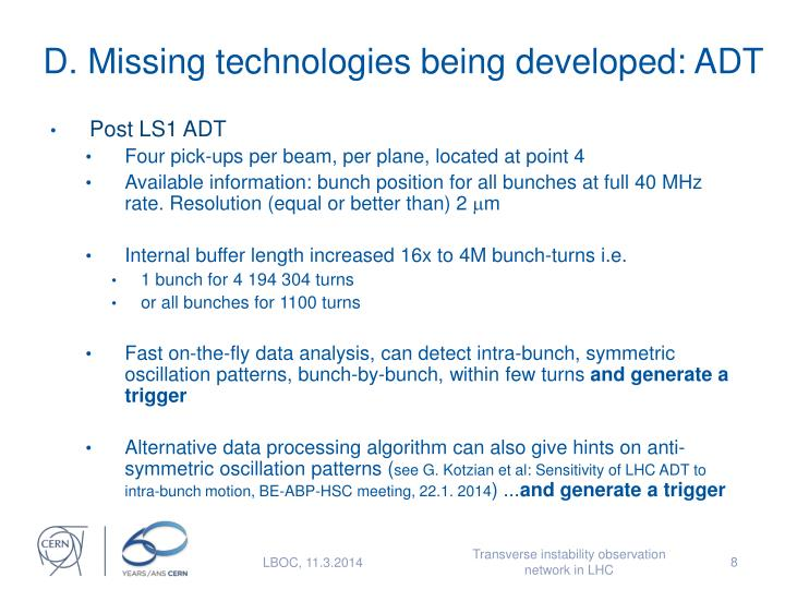 D. Missing technologies being