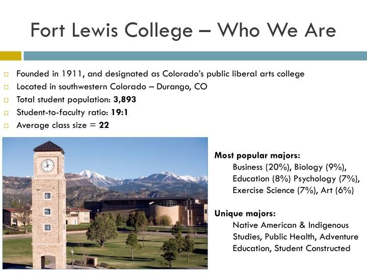 Fort Lewis College – Who We Are