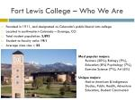fort lewis college who we are