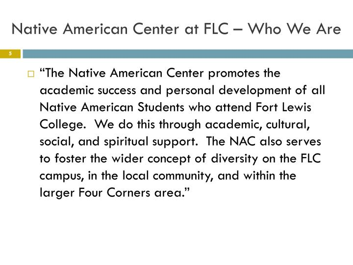 Native American Center at FLC – Who We Are