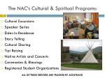 the nac s cultural spiritual programs