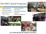 the nac s social programs