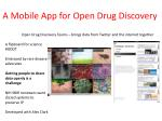 a mobile app for open drug discovery