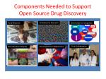 components needed to support open source drug discovery